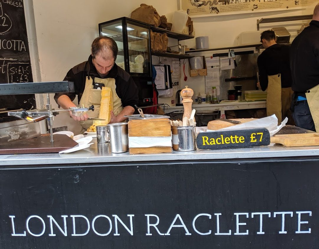 Playground Earth l Borough Market l Raclette