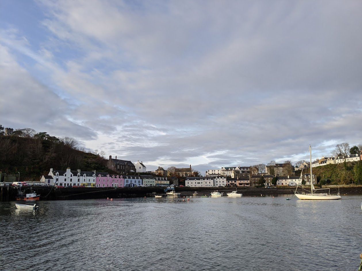 Playground Earth   Departing Portree Harbor